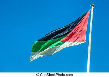 Great Arab Revolt Flag in Aqaba, Jordan