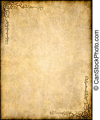 old parchment paper texture with ornate design - great...