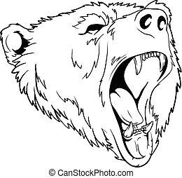 great bear head