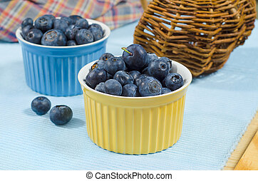 Great bilberry 1 - Great fresh bilberry in bowls