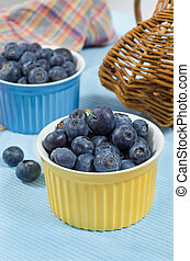 Great bilberry 2 - Great fresh bilberry in color bowls