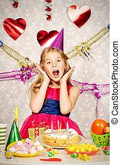 great birthday - Beautiful little girl enjoys her birthday....
