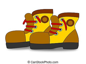 Great boots with red laces as an illustration
