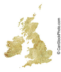 Great Britain Antique Texture Map