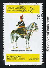 royal artillery mounted band, drummer