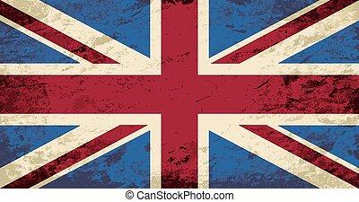 Great Britain flag. Grunge