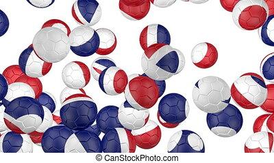 Great Britain flag of soccer balls