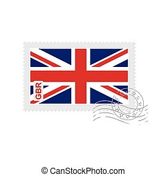 great britain flag old postage stamp