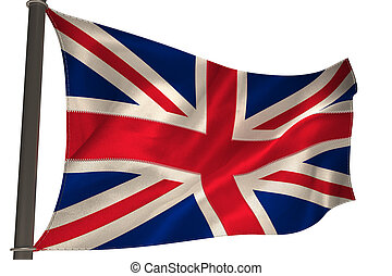 Great britain flag on white background