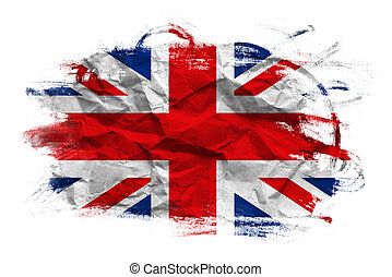 Great Britain flag. United Kingdom flag in grunge technique.