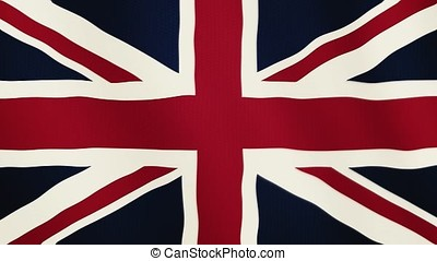 Great Britain flag waving animation. Full Screen. Symbol of the country.