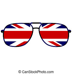 great britain glasses - glasses with flag of great britain