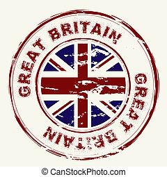 great britain grunge ink stamp