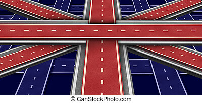 Great Britain Highway Flag