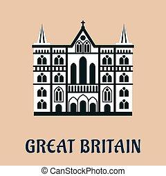Great Britain landmark flat icon - Great Britain...