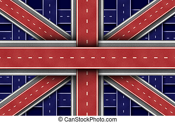 great britain, vej, flag
