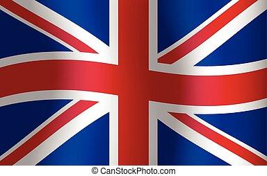 Great Britain Waving Flag United Kingdom English