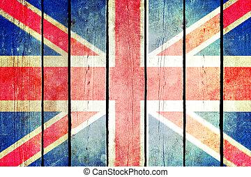 Great britain wooden grunge flag.