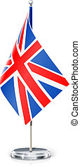 Great Britain's flag on flagstaff and support vector...