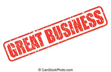 GREAT BUSINESS red stamp text
