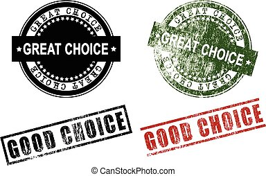 Great Choice Good Choice Rubber Stamps (Vector)
