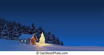 Great Christmas - holiday background illustration