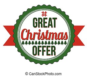 Great Christmas offer badge on white background, vector...