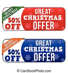 Great Christmas offer banners