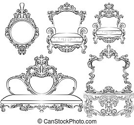 Great collection of Baroque style armchairs furniture