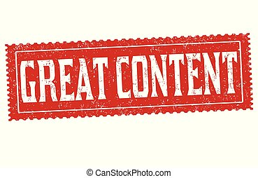 Great content sign or stamp