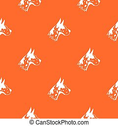 Great dane dog pattern seamless
