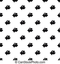Great dane dog pattern, simple style