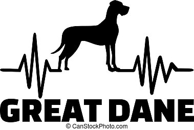 Great Dane frequency - Heartbeat frequency with Great Dane...