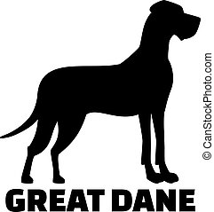 Great dane with breed name
