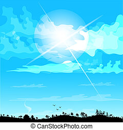 great day sunny illustration. Bright warm to the idea