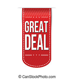 Great deal banner design over a white background, vector...
