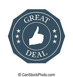 Great deal flat badge on white background.