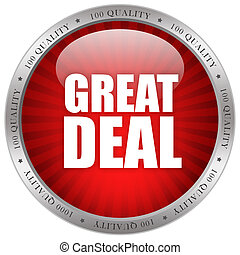 Great deal glossy icon