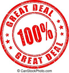 Great deal rubber stamp