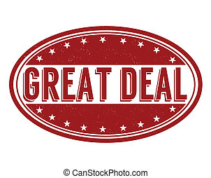 Great deal grunge rubber stamp on white background, vector illustration