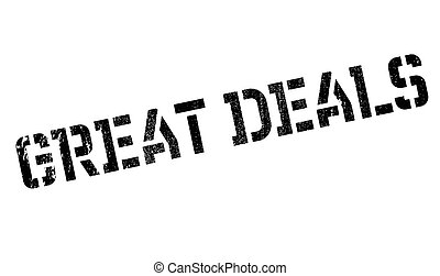 Great Deals rubber stamp