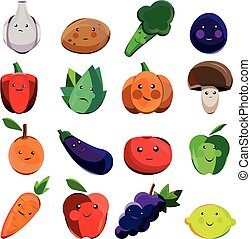 Great designed set of cartoon vegetables