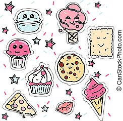 Great designed set of cupcake