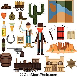 Great designed set of wild west that can be used in various ...