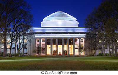 MIT - Great Dome of MIT in Cambridge, Massachusetts, USA.