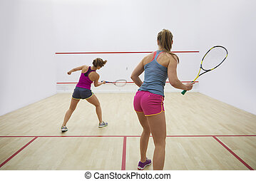 Great endurance of two squash players