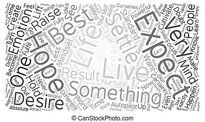 Great Expectations text background word cloud concept