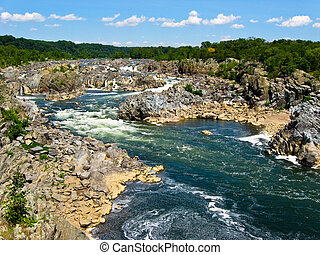 Great Falls State Park, Virginia, USA - View of the Potomac...