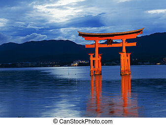 O-Torii - Great floating gate (O-Torii) on Miyajima island...