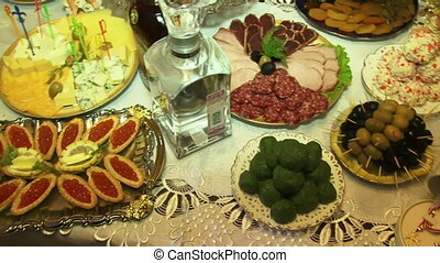 Great food - On the table is beautifully decorated food and...